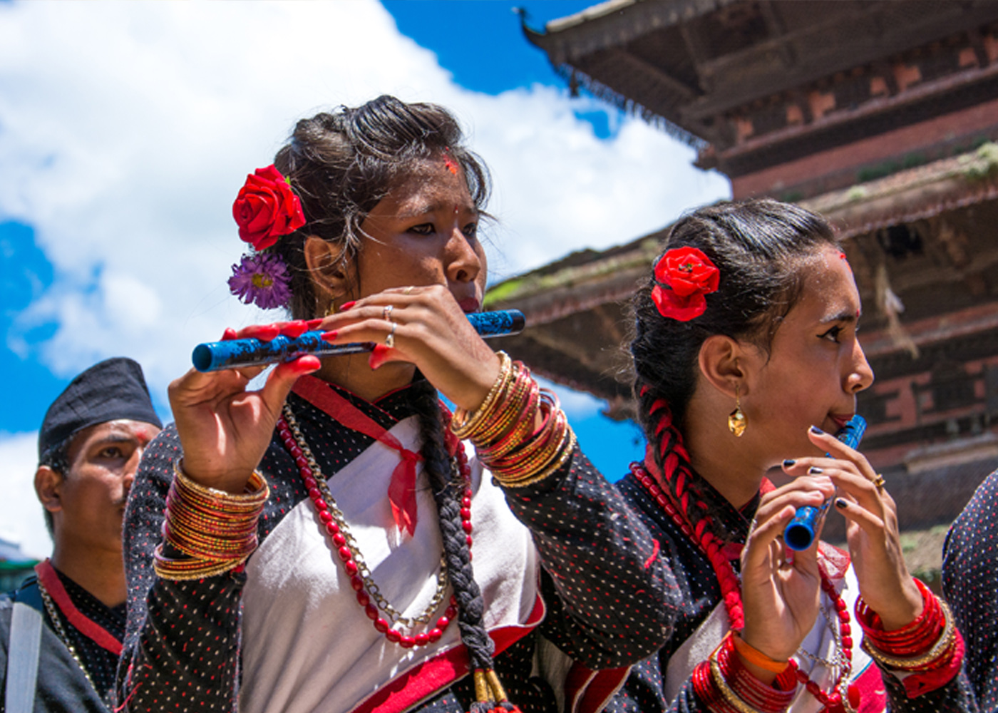 Bisket Jatra and Newari Girls