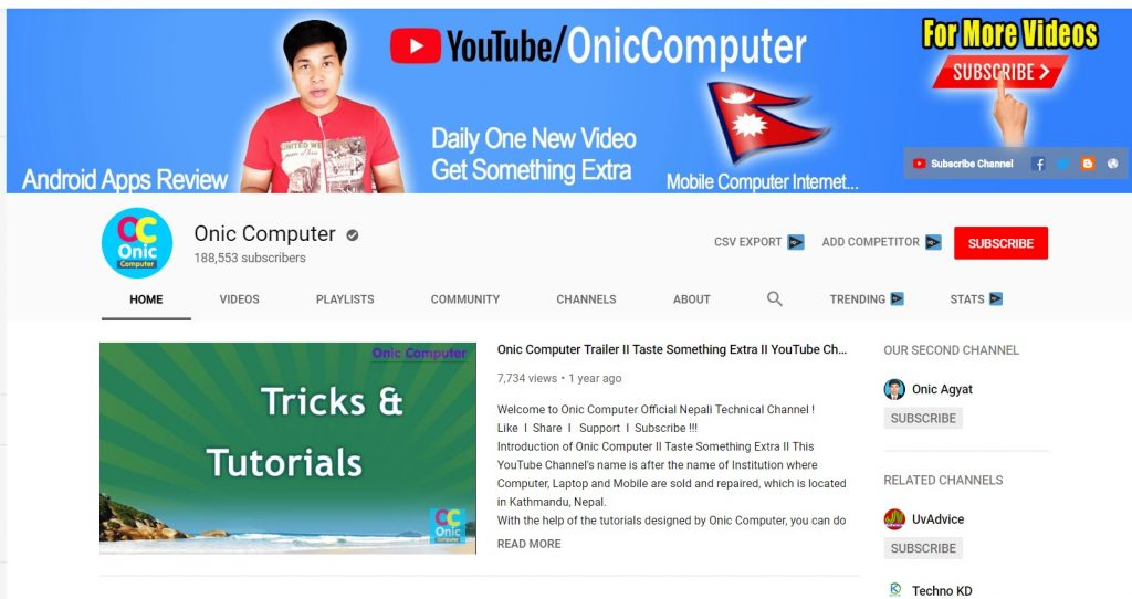 Top 10 Best Nepali Tech Channels - Onic Computer
