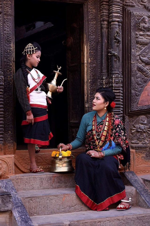 Newari Girls and Culture